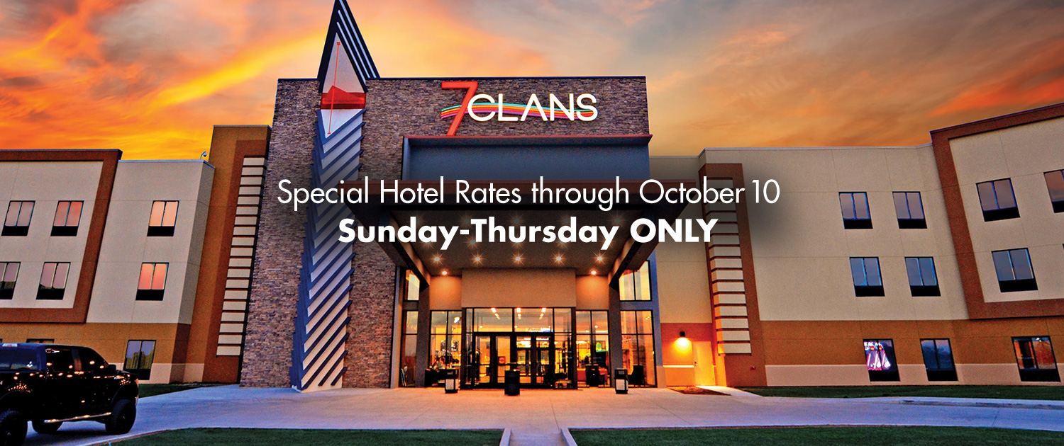 Special Hotel Rates through October 10 | Sunday-Thursday ONLY