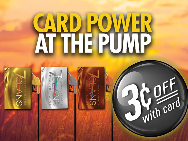 Card power at the pump 3 cents off with card