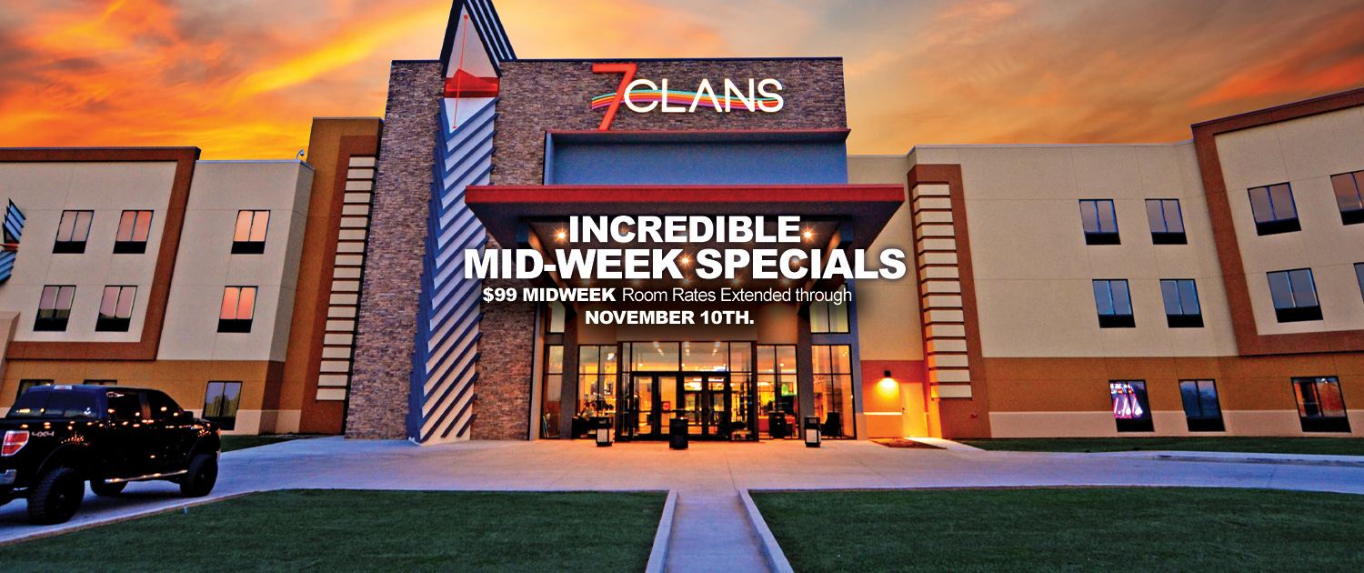 Incredible Mid-Week Specials | $99 Midweek - Room Rates Extended through November 10th