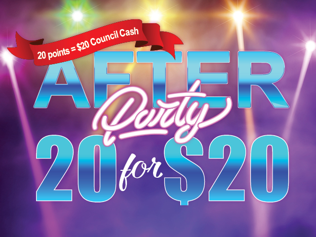 After Party 20 for $20