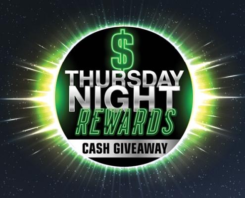 Thursday Night Rewards Cash giveaway