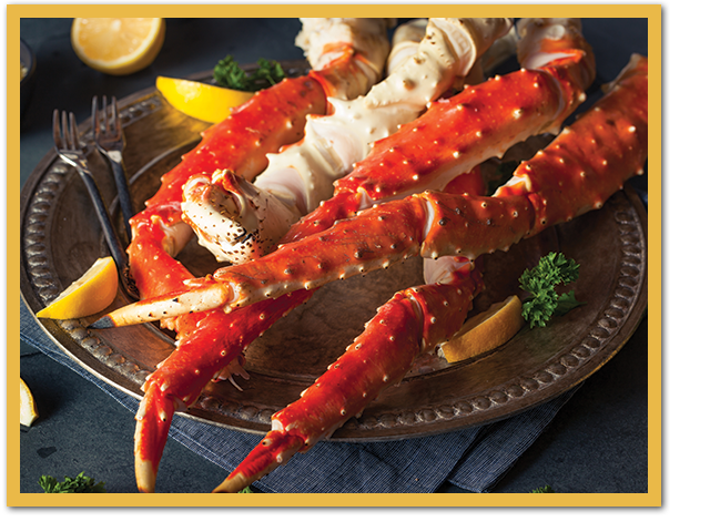 crab leg special At Flatwater